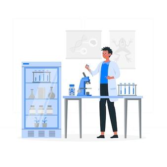 Ilustração do conceito de biólogo