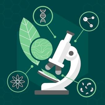 Ilustração do conceito de biotecnologia