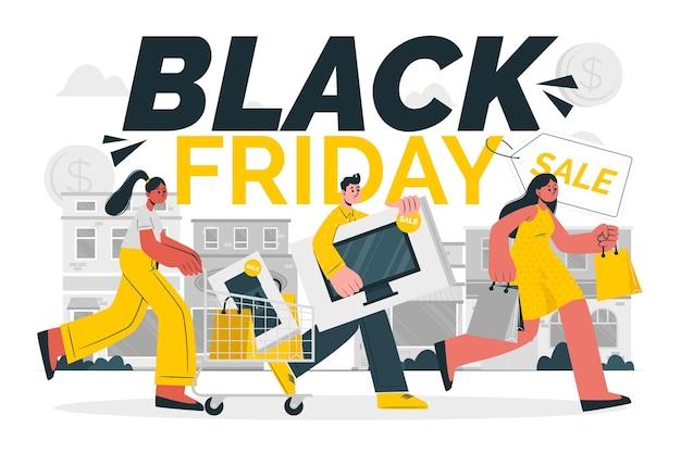 Ilustração do conceito de black friday