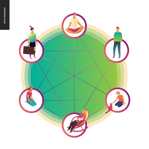Ilustração do conceito de blockchain
