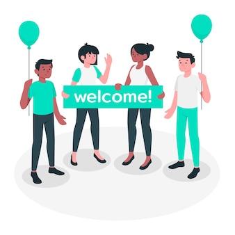 Ilustração do conceito de boas-vindas