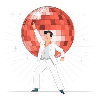 Ilustração do conceito de bola de discoteca