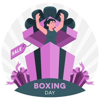 Ilustração do conceito de boxing day