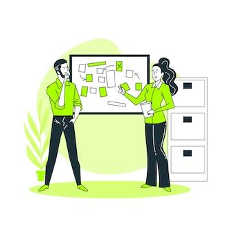 Ilustração do conceito de brainstorming