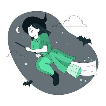 Ilustração do conceito de bruxa