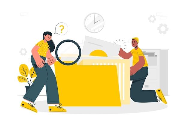 Ilustração do conceito de busca de arquivos