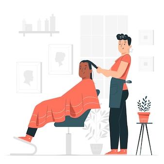 Ilustração do conceito de cabeleireiro