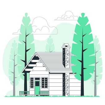Ilustração do conceito de cabine