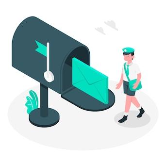 Ilustração do conceito de caixa de correio
