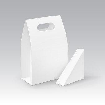 Ilustração do conceito de caixa para levar