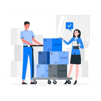 Ilustração do conceito de caixas de verificação