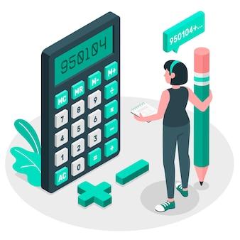 Ilustração do conceito de calculadora