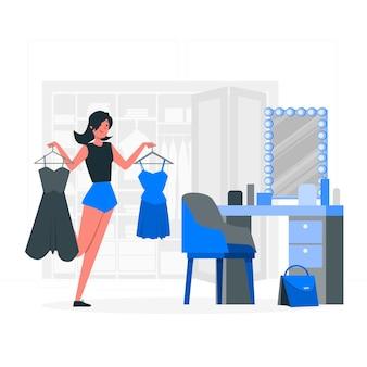 Ilustração do conceito de camarim