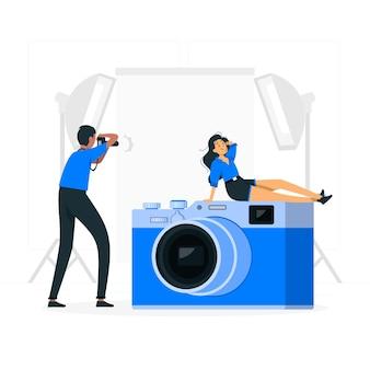 Ilustração do conceito de câmera