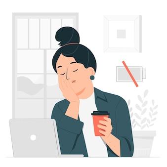 Ilustração do conceito de cansaço
