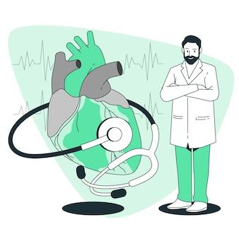 Ilustração do conceito de cardiologista