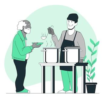 Ilustração do conceito de caridade