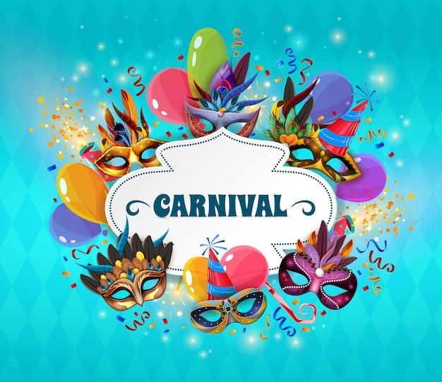 Ilustração do conceito de carnaval