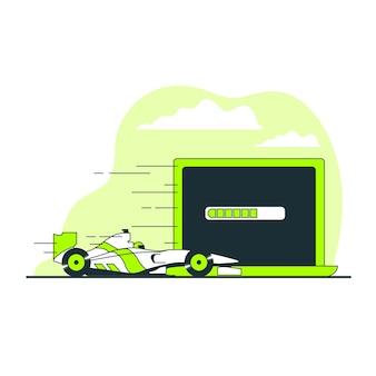 Ilustração do conceito de carregamento rápido