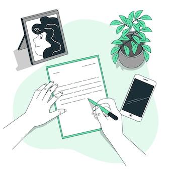 Ilustração do conceito de carta