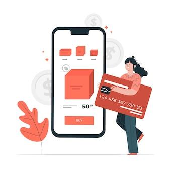 Ilustração do conceito de cartão de crédito