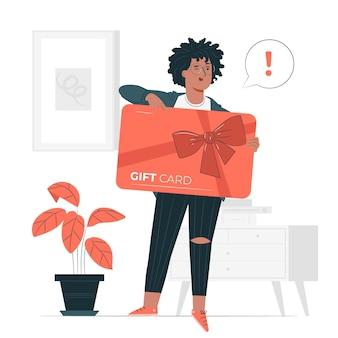 Ilustração do conceito de cartão-presente