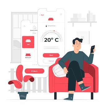 Ilustração do conceito de casa inteligente