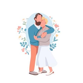 Ilustração do conceito de casal casado
