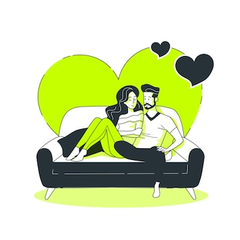 Ilustração do conceito de casal
