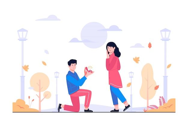 Ilustração do conceito de casar comigo