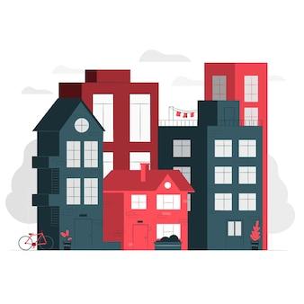 Ilustração do conceito de casas