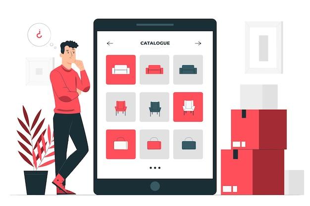 Ilustração do conceito de catálogo