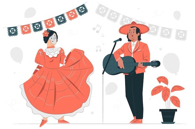 Ilustração do conceito de celebração do dia de muertos