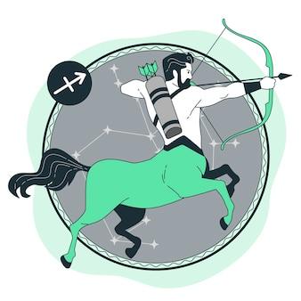Ilustração do conceito de centauro