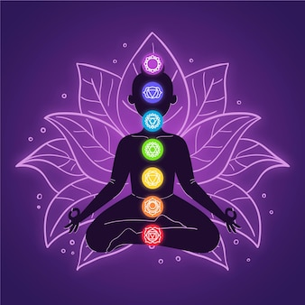 Ilustração do conceito de chakras