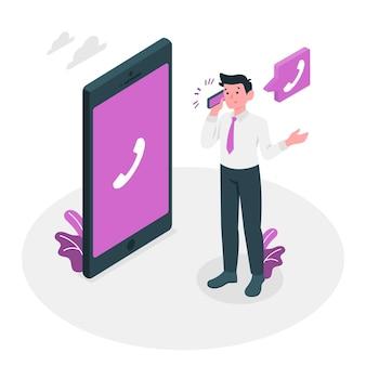 Ilustração do conceito de chamada