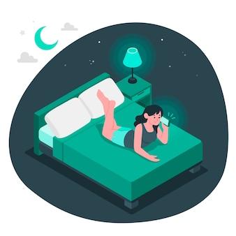 Ilustração do conceito de chamadas noturnas