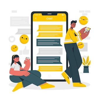 Ilustração do conceito de chat