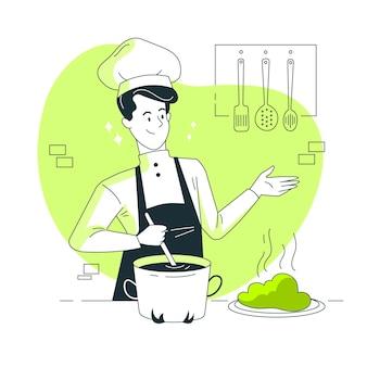 Ilustração do conceito de chef
