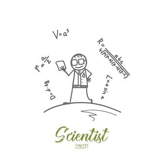 Ilustração do conceito de cientista