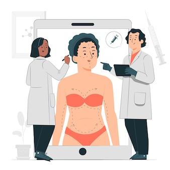 Ilustração do conceito de cirurgia plástica