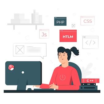Ilustração do conceito de codificação