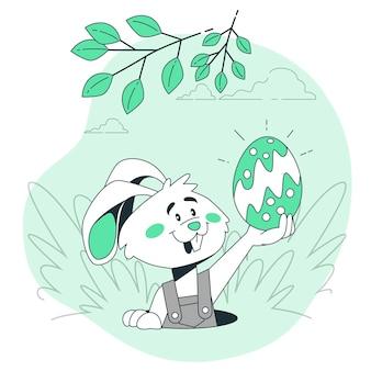 Ilustração do conceito de coelhinho da páscoa