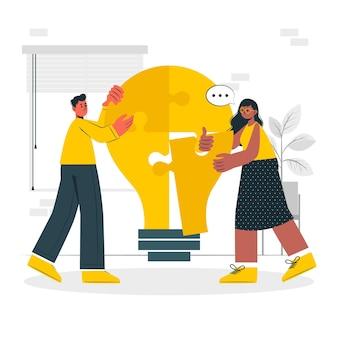 Ilustração do conceito de colaboração
