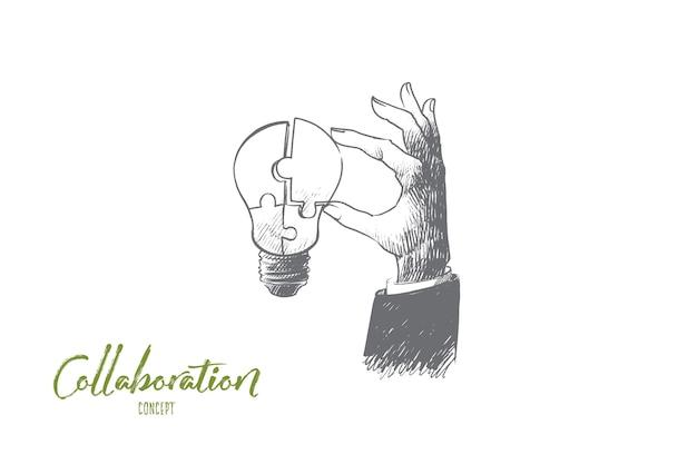 Ilustração do conceito de colaboração Vetor Premium