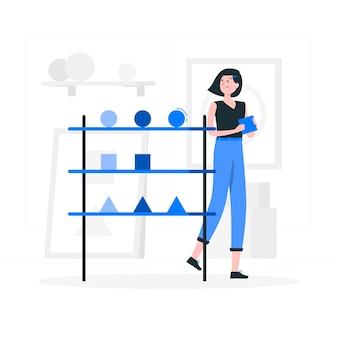 Ilustração do conceito de coleção