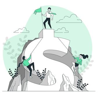 Ilustração do conceito de competição empresarial