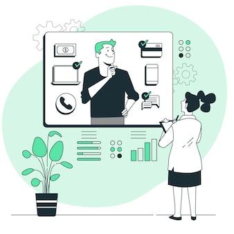 Ilustração do conceito de comportamento do cliente