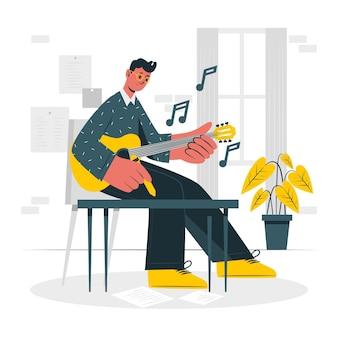 Ilustração do conceito de compositor