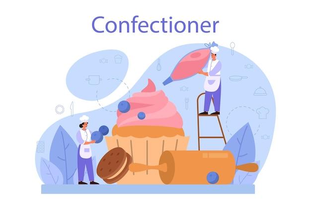 Ilustração do conceito de confeiteiro